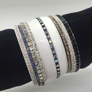Fabulous Collection of Vintage Rhinestone Bangles